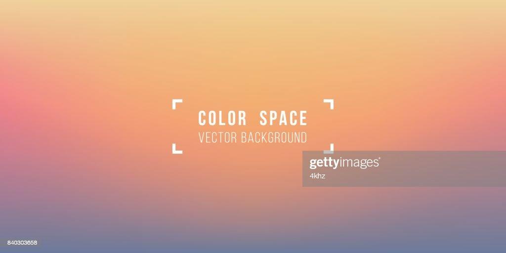 Warmen Horizont weiche Farbe Raum Unschärfe glatten Farbverlauf Hintergrund : Stock-Illustration