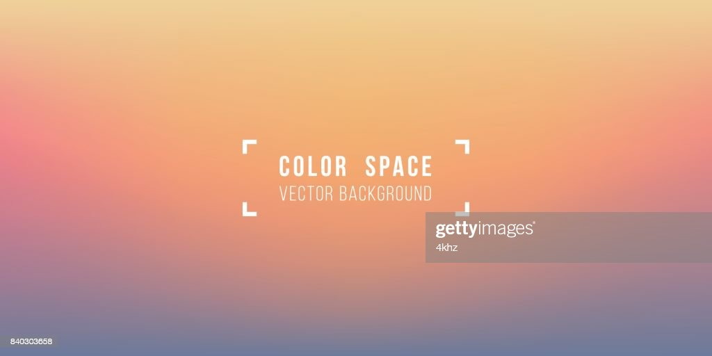 Warm Horizon Soft Color Space Defocus Smooth Gradient Background