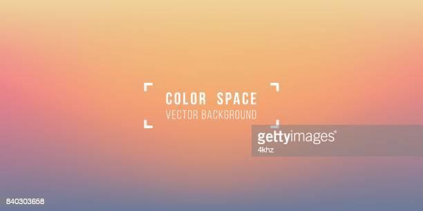 ilustraciones, imágenes clip art, dibujos animados e iconos de stock de horizonte cálido color suave desenfoque suave gradiente fondo del espacio - puesta de sol