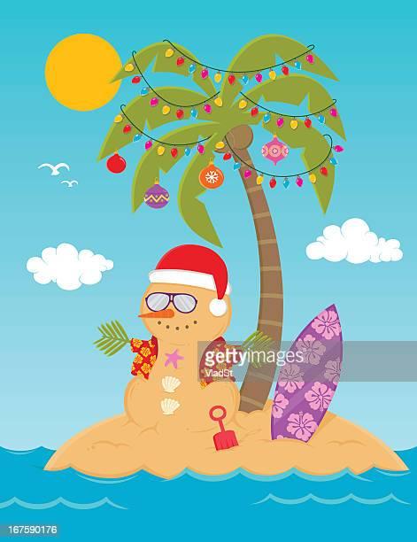 warmest wishes for christmas - hawaiian shirt stock illustrations