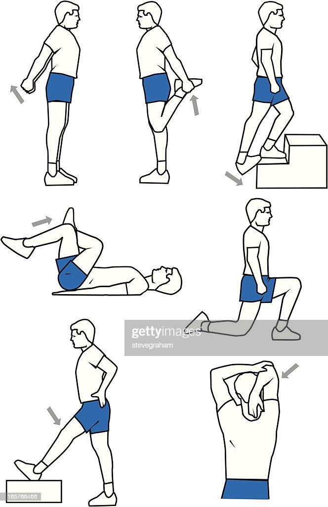 Warm-Up Exercises : stock illustration