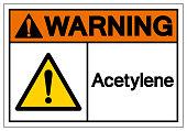 Warning Acetylene Symbol Sign, Vector Illustration, Isolate On White Background Label. EPS10