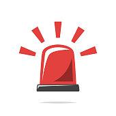 Warning alarm light vector isolated