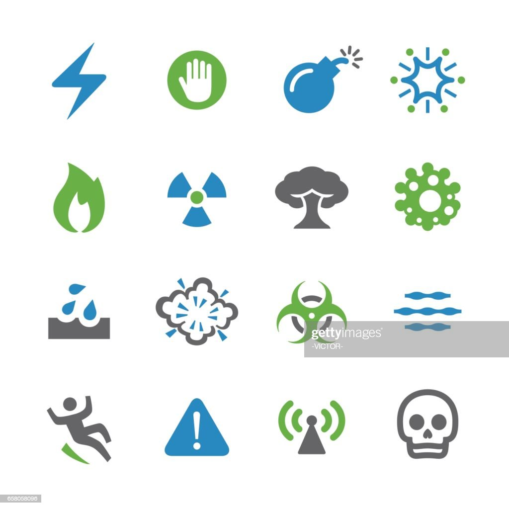 Warning and Danger Icons - Spry Series : stock illustration