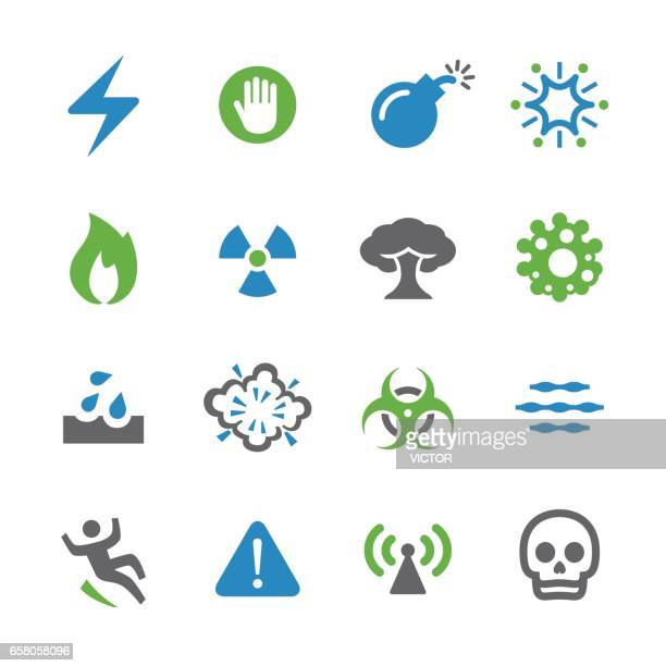warning and danger icons - spry series - occupational safety and health stock illustrations, clip art, cartoons, & icons