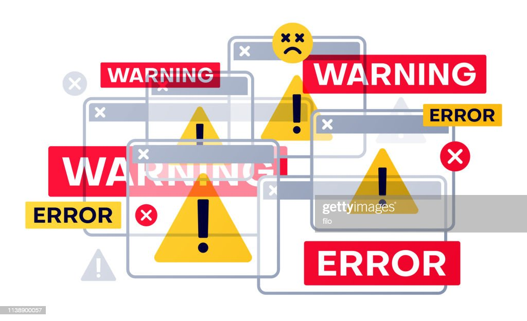 Warning and Error Messages : stock illustration