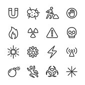 Warning and Hazard Icons - Line Series