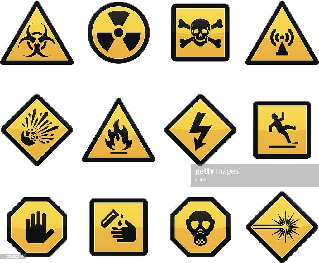 Warning and Hazard : stock illustration