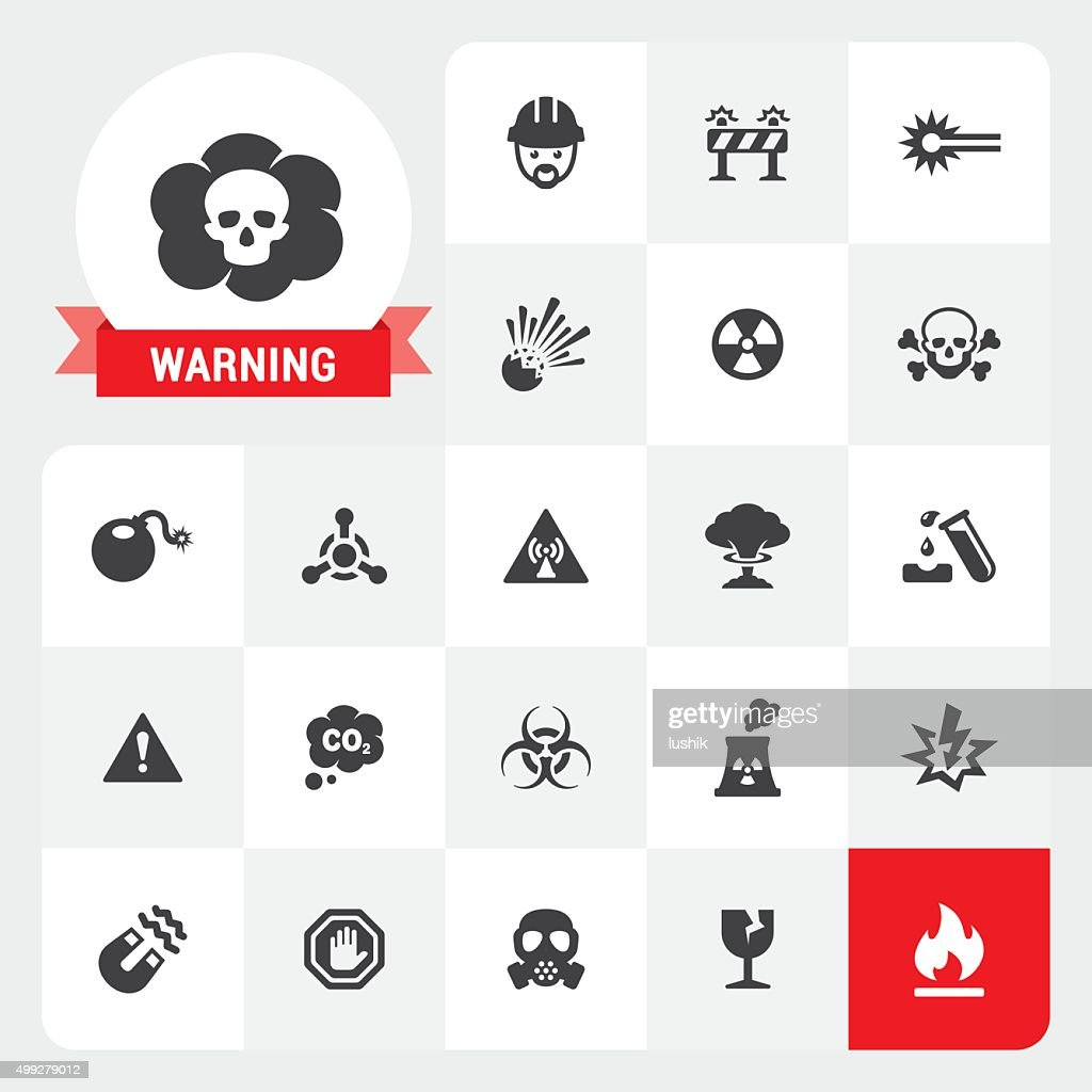 Warning base vector icons and label : stock illustration