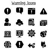 Warning, Caution, Danger , Notification icon set