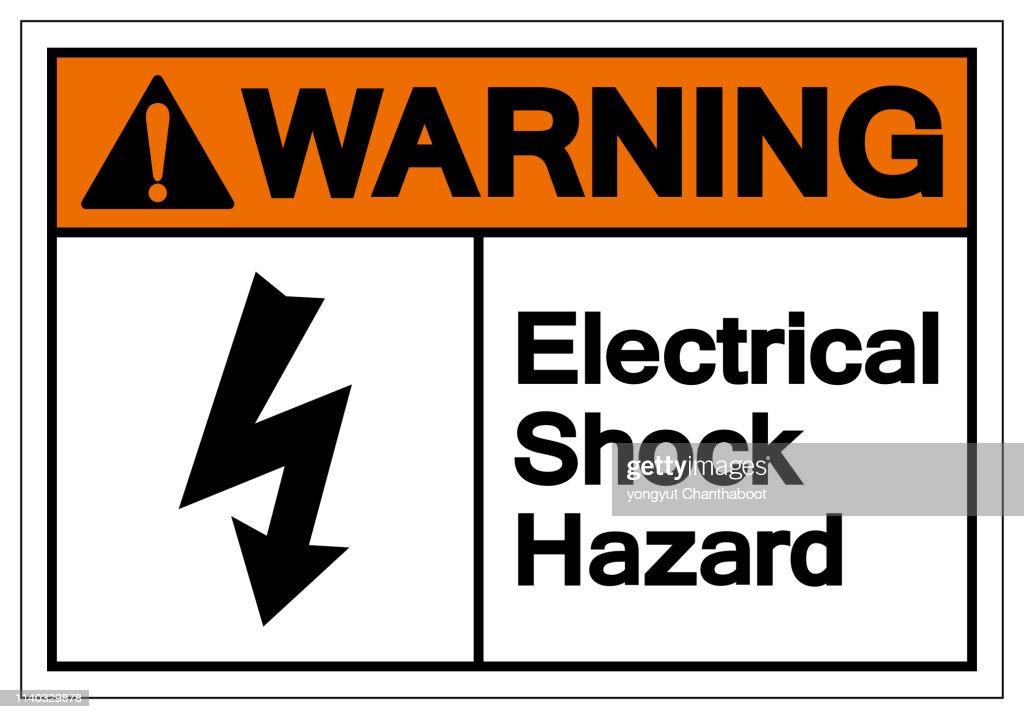 Warning Electrical Shock Hazard Symbol Sign, Vector Illustration, Isolate On White Background Label .EPS10