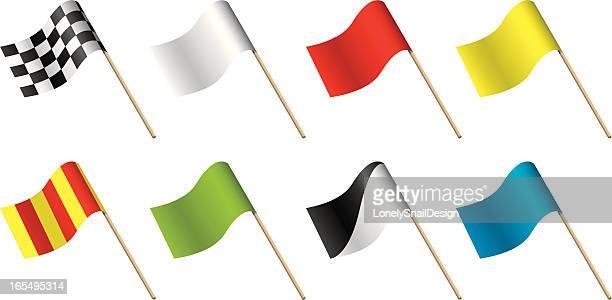 ilustraciones, imágenes clip art, dibujos animados e iconos de stock de banderas de advertencia - amarillo color