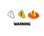 Warning icon in different style