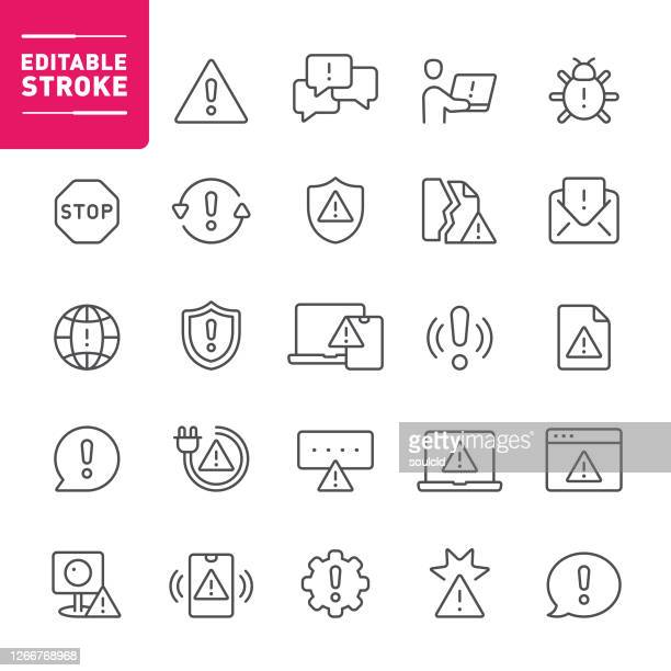 warning icons - concentration stock illustrations