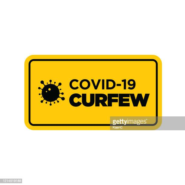 warning in a yellow sign about coronavirus or covid-19 vector illustration - crossed out stock illustrations