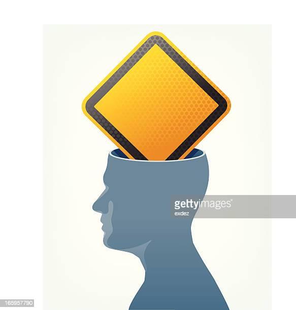 Avertissement à l'intérieur du cerveau