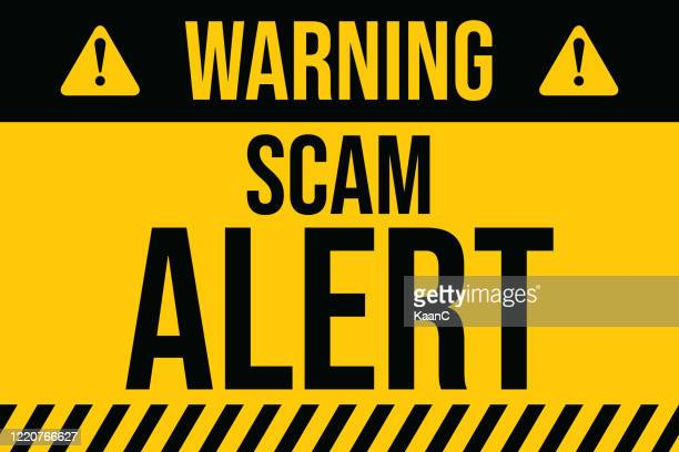 warning of scam alert. covid-19 outbreak influenza as dangerous flu strain cases as a pandemic concept banner flat style illustration stock illustration - alertness stock illustrations