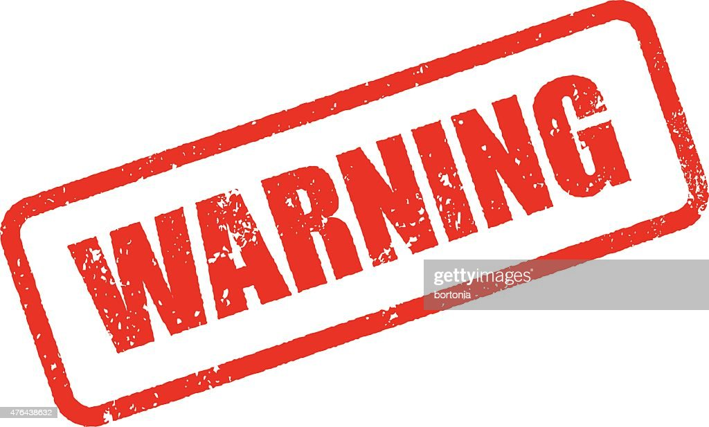 Warning Rubber Stamp Ink Imprint Icon (Transparent Background)