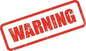 Warning Rubber Stamp Ink Imprint Icon (Transparent Background)