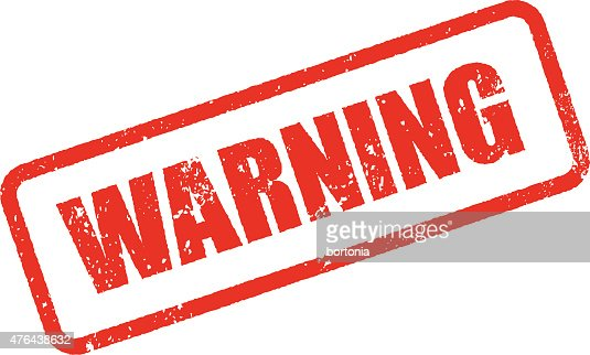 warning rubber stamp ink imprint icon stock vector