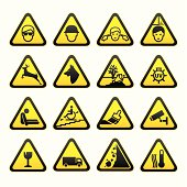 Warning Safety Signs Set