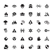 Warning & Security vector symbols and icons