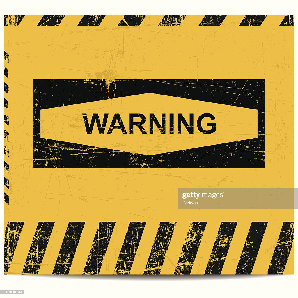 Warning sign banner