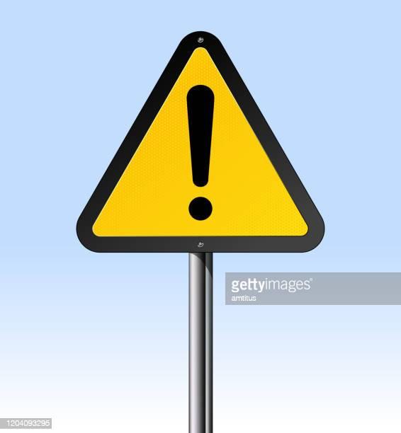 warning sign - placard stock illustrations