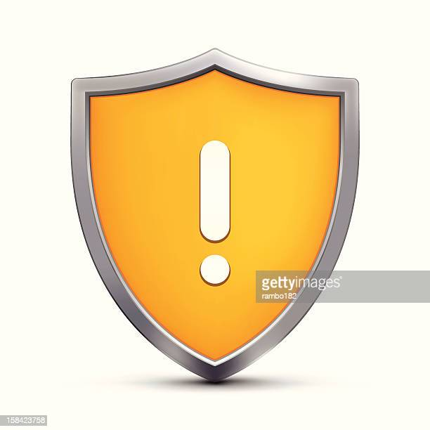 warning sign - shield stock illustrations