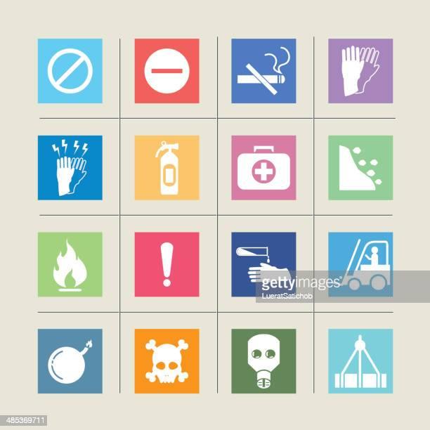 Sinais de aviso de ícones Color harmony/EPS10
