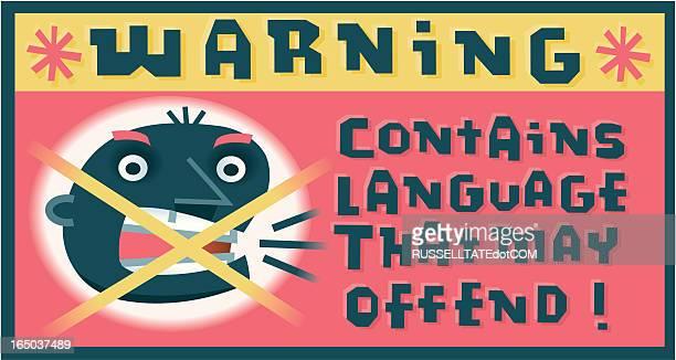 warning sticker - broad bean stock illustrations, clip art, cartoons, & icons