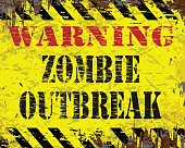 Warning Zombie Outbreak Sign