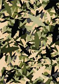 Warplane Army Camouflage Repeat Pattern