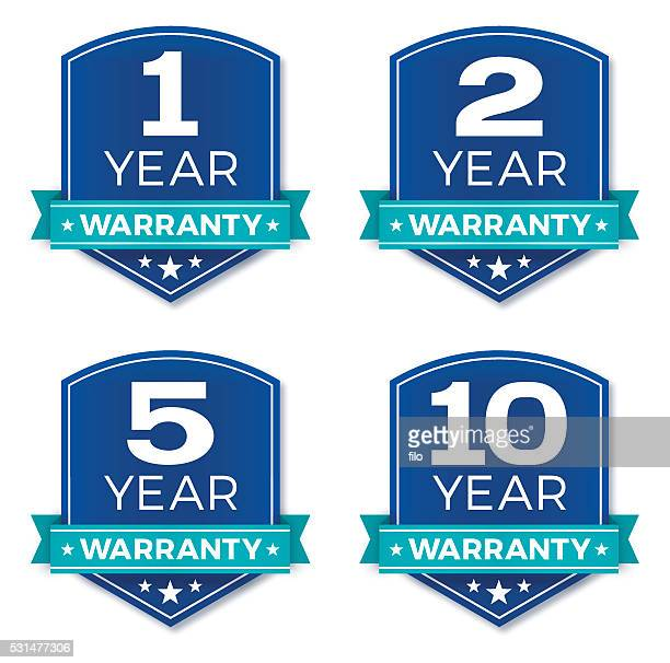 warranty badges - number 1 stock illustrations, clip art, cartoons, & icons