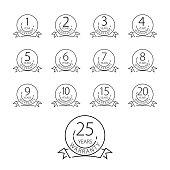 Warranty icon, years warranty label - vector illustration.