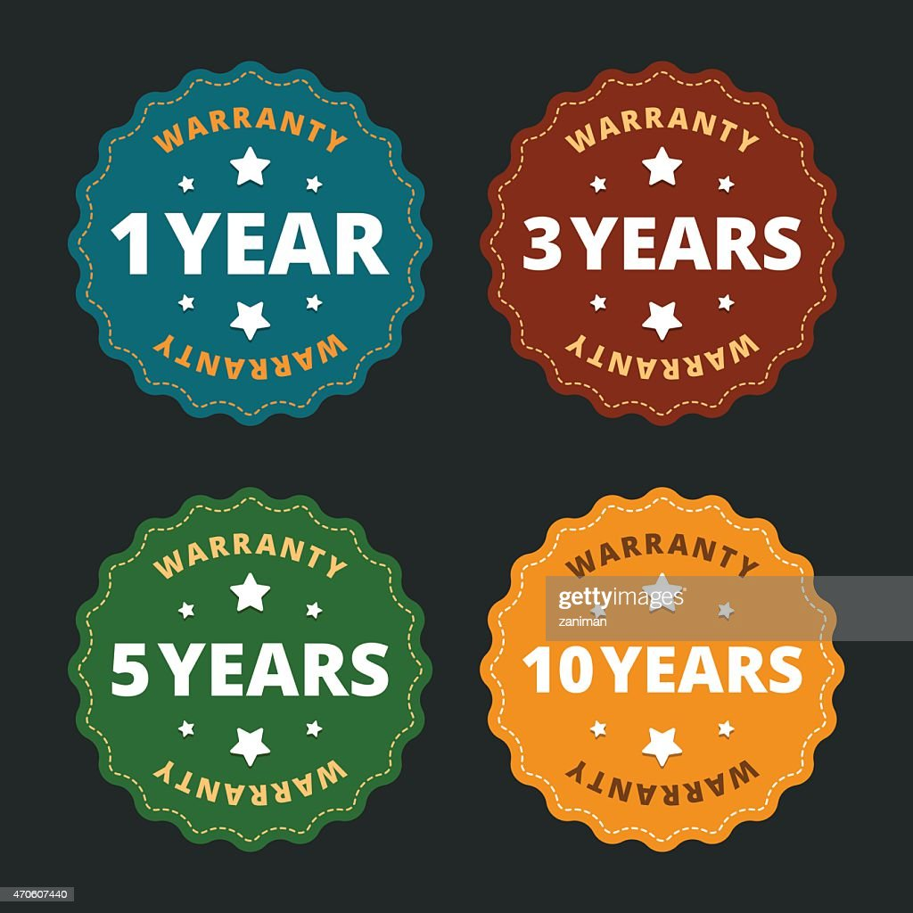 Warranty labels - for 1, 2, 5 and 10 years.