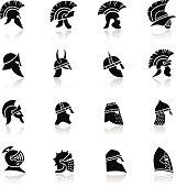 Warrior Helmet Icon Set