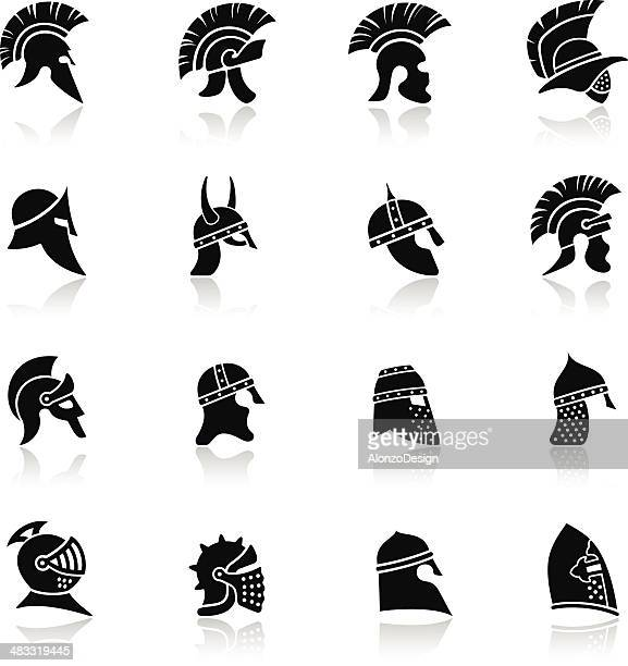 Warrior Helmet Icon Set