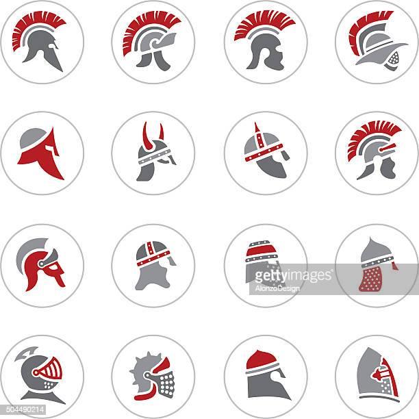 warrior helmet icons - cavalier cavalry stock illustrations, clip art, cartoons, & icons