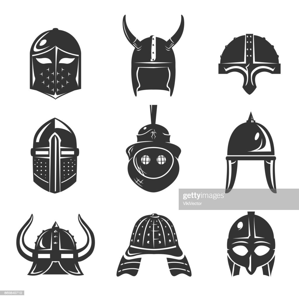 Warrior helmet set