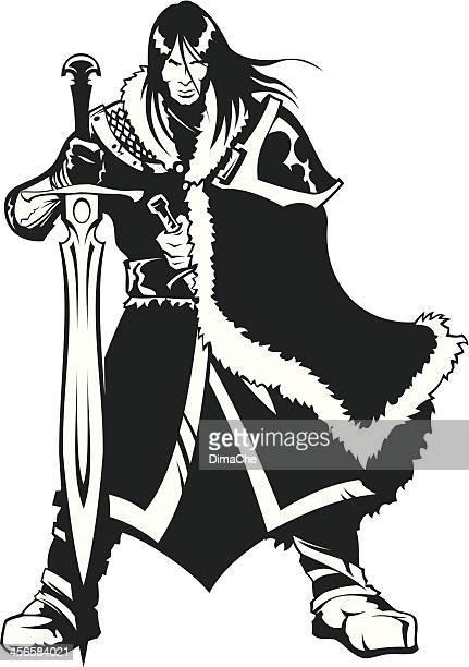 warrior of north - cavalier cavalry stock illustrations, clip art, cartoons, & icons