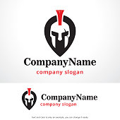 Warrior Point Symbol Template Design Vector, Emblem, Design Concept, Creative Symbol, Icon
