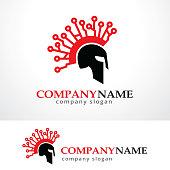Warrior Tech Symbol Template Design Vector, Emblem, Design Concept, Creative Symbol, Icon