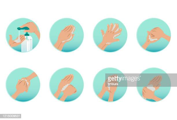 wash your hands and use alcohol to sanitize - rubbing alcohol stock illustrations