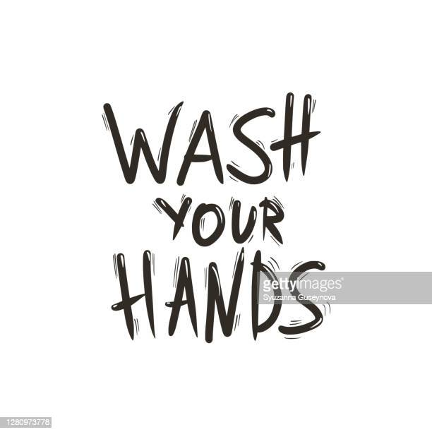 wash your hands ink message hand