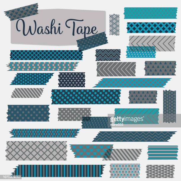 Washi Tapes In A Variety Of patterns And Colours