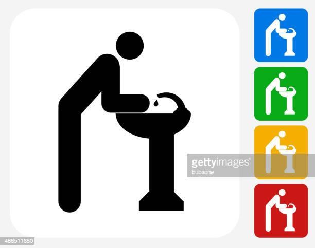 手を洗うグラフィックデザインアイコンフラット
