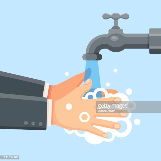 washing hands - washing hands stock illustrations