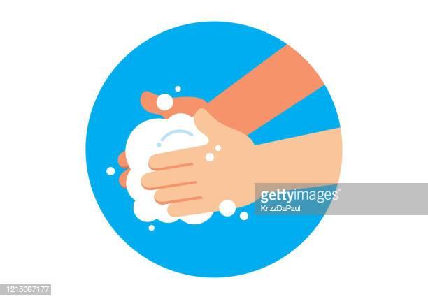 illustrations, cliparts, dessins animés et icônes de mains de lavage - lavage des mains
