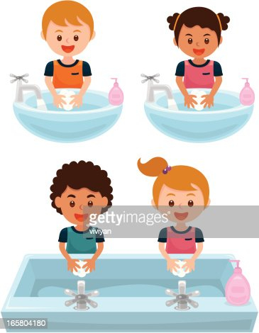Washing Hands Vector Art | Getty Images